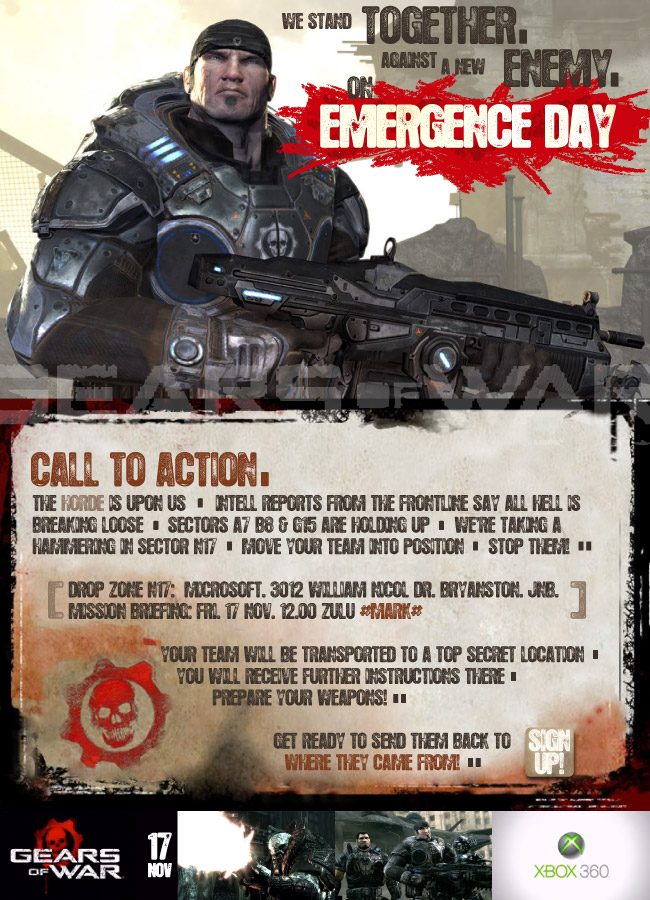 XBOX Gears of War Game Launch