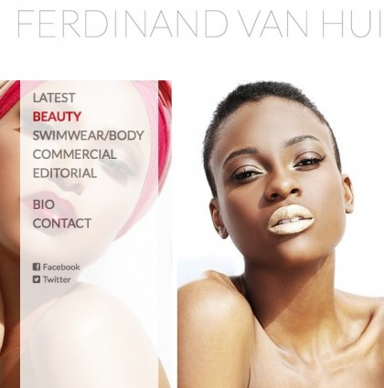 Website for Ferdinand van Huizen Photography