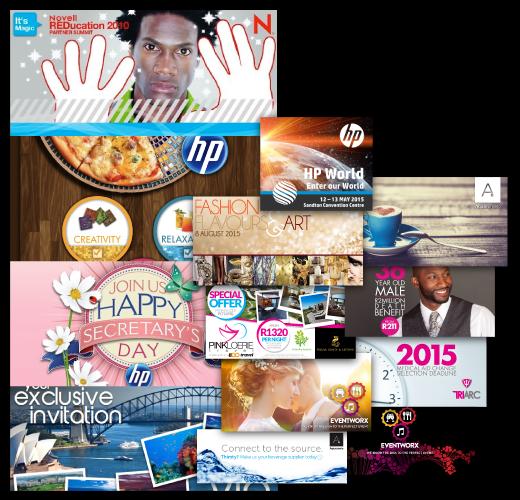 Banner Ads, Social Post Ads, E-vites