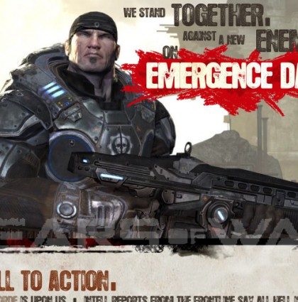 Gears of War E-vite for Microsoft
