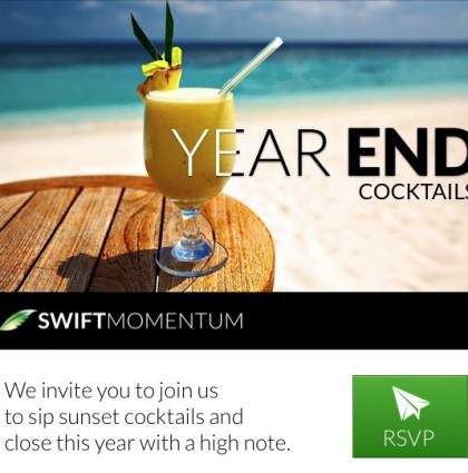 Staff Year-end E-vite for Swift Momentum