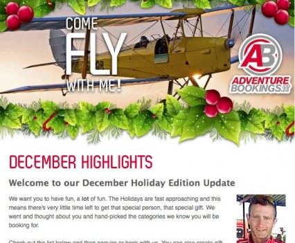 AdventureBookings Newsletter Header
