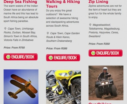 AdventureBookings Newsletter Products