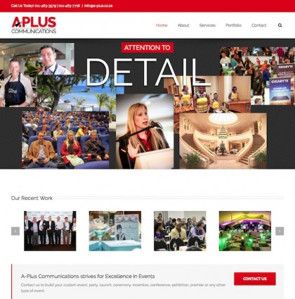 Website, New Logo for A-Plus Communications