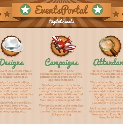 Single Page Responsive Design for EventsPortal