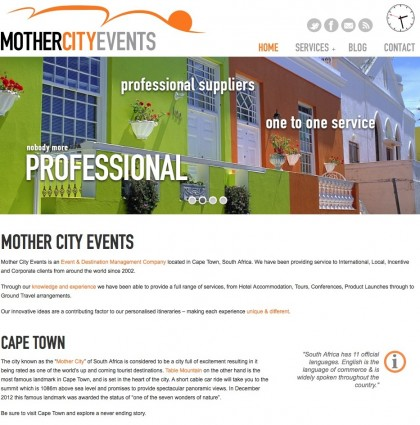 Website for Mother City Events