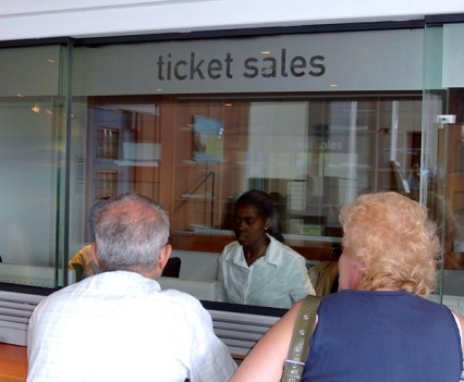 Ticket Sales Window Sign
