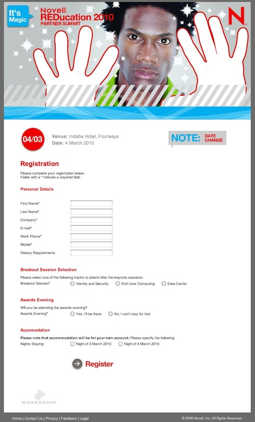 Novell Registration