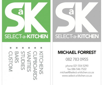 Select-a-Kitchen B-Cards