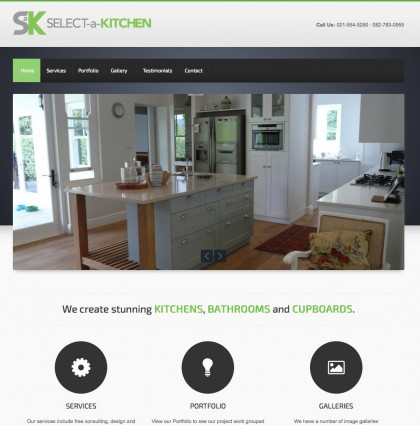 Website, New Logo for Select-a-Kitchen