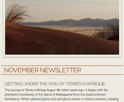 Terres D'Afrique Newsletter