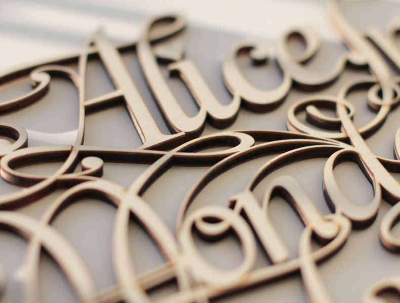 Lettering & Design by Future Marquetry