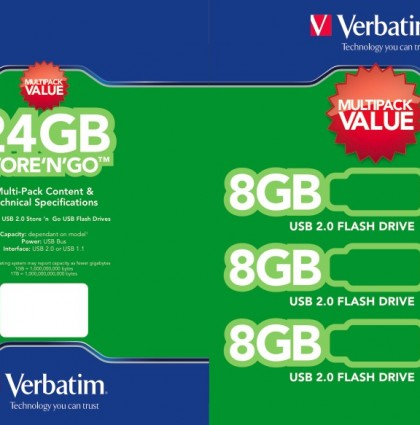 USB Packaging Design for Verbatim