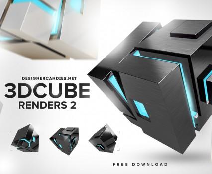 Designer Candies 3D Cuber Renders 2