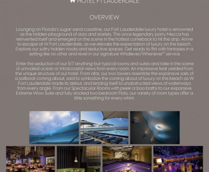W Hotel Invitation Venue