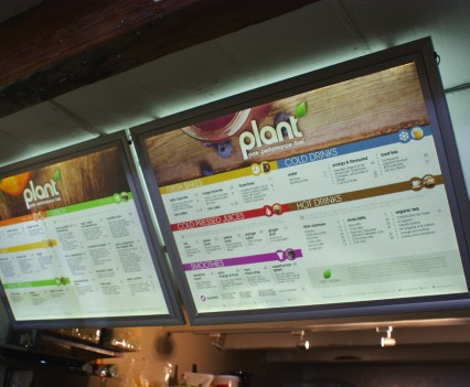 Plant Edge-lit Menu Boards