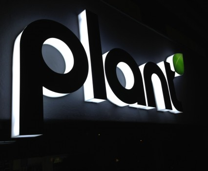 Plant Sign Night Left