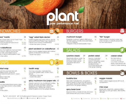Plant Menu Boards 1