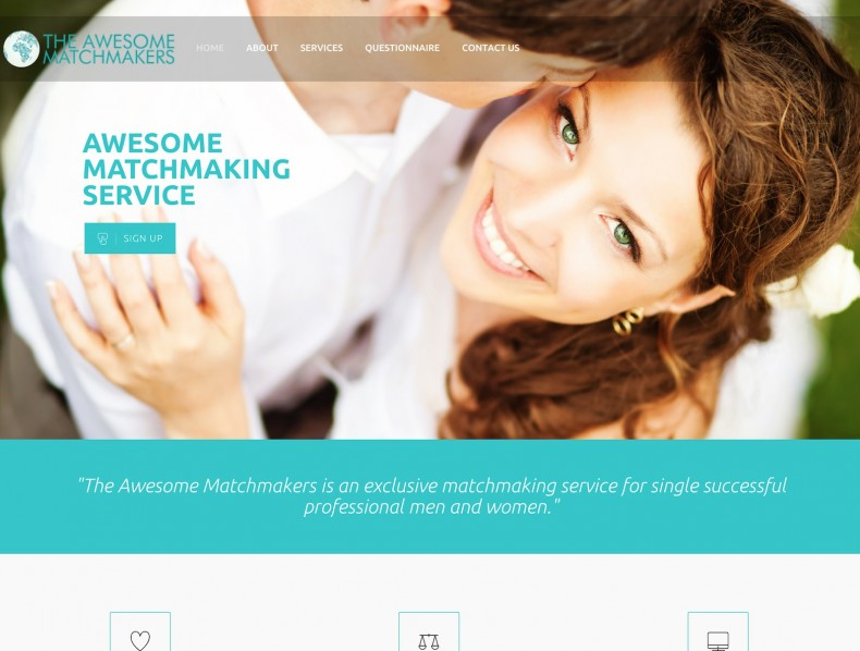 Website for The Awesome Matchmakers