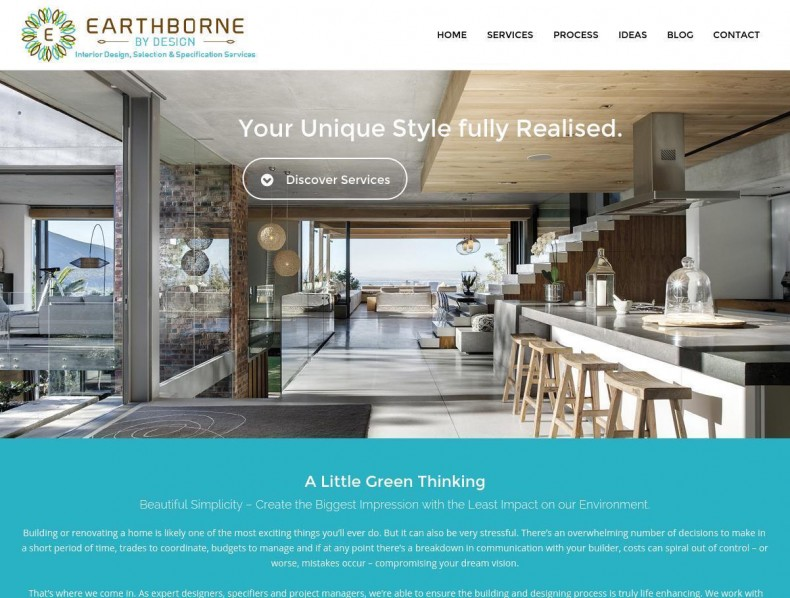 Website for Earthborne by Design