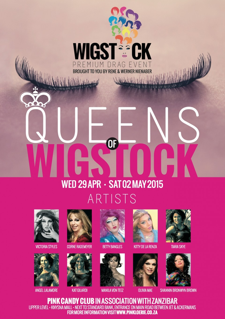 Pink Loerie - Wigstock Poster