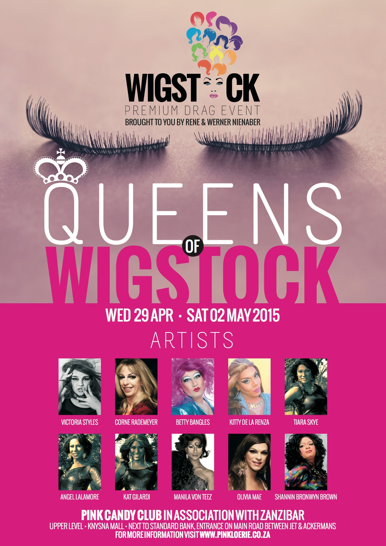posters for pink loerie and wigstock