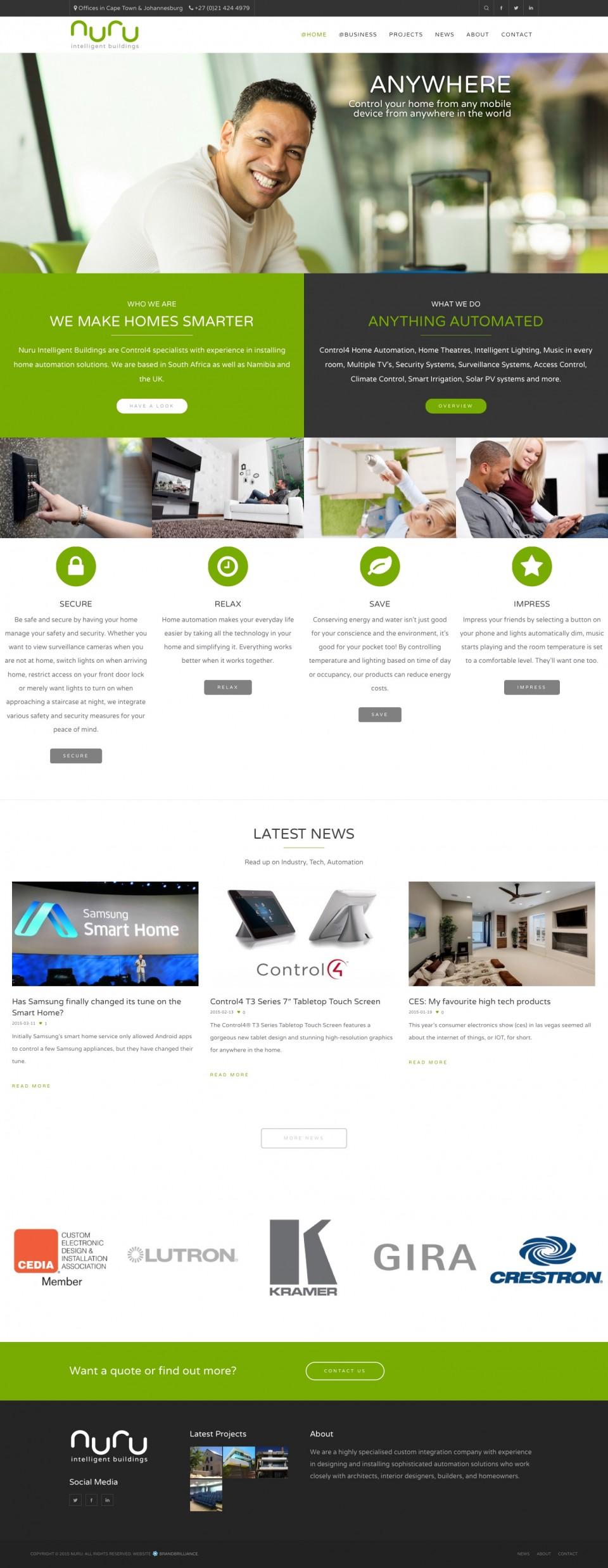 Nuru Website - Home