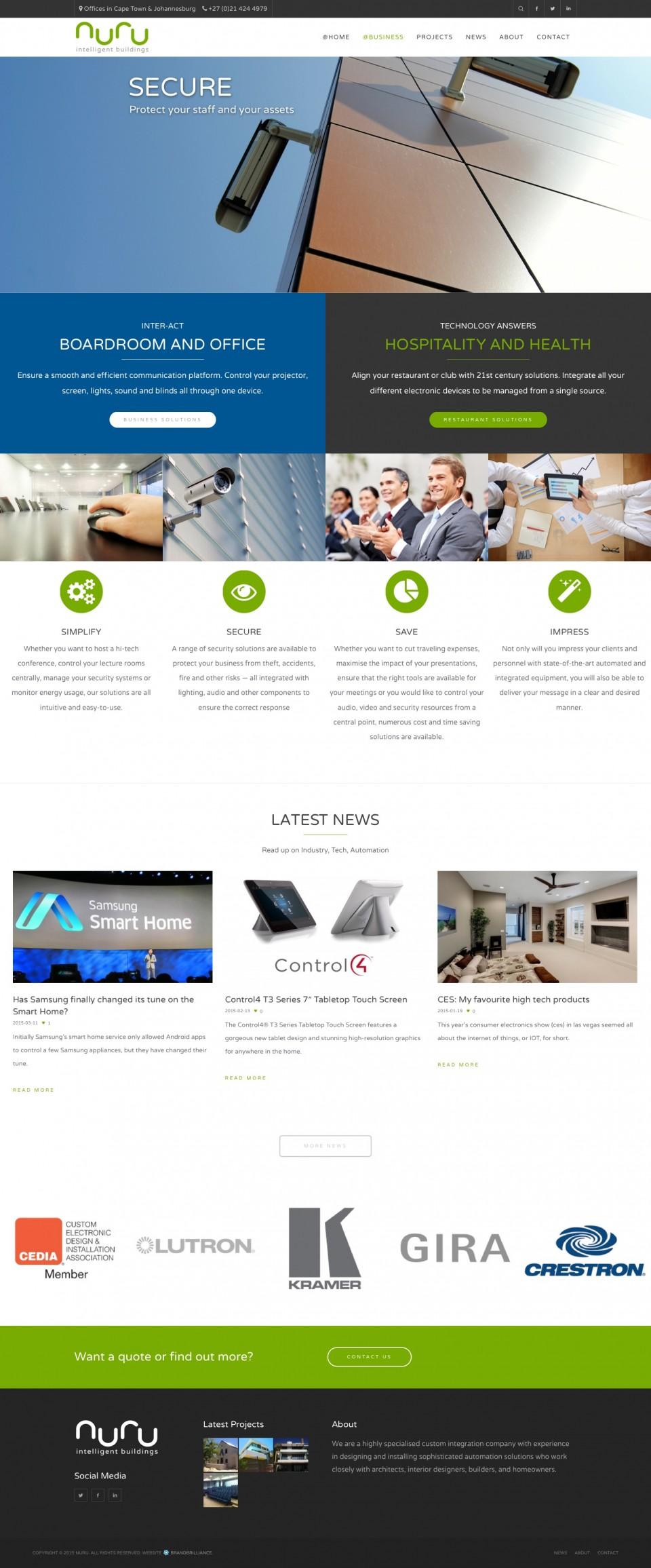 Nuru Website - Business