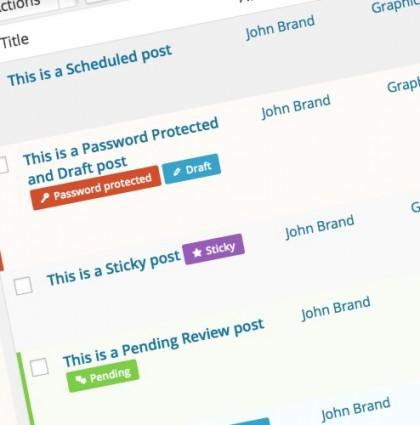 WordPress Plugin: Post State Tags