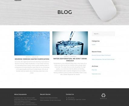 Aquazania Water Company Website Blog