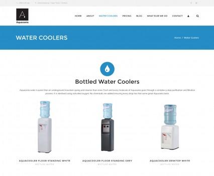 Aquazania Water Company Website Products
