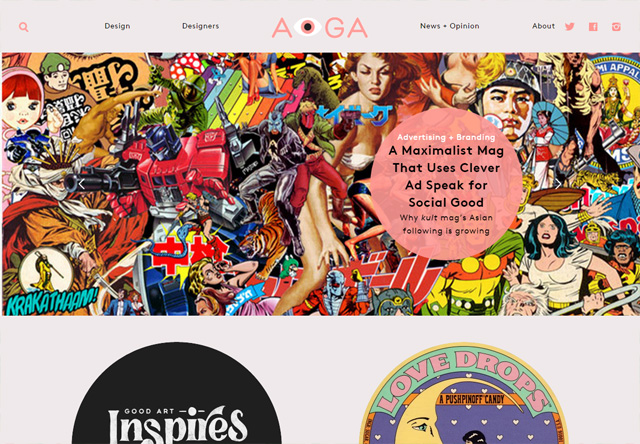 Colorful Website - AIGA Eye on Design