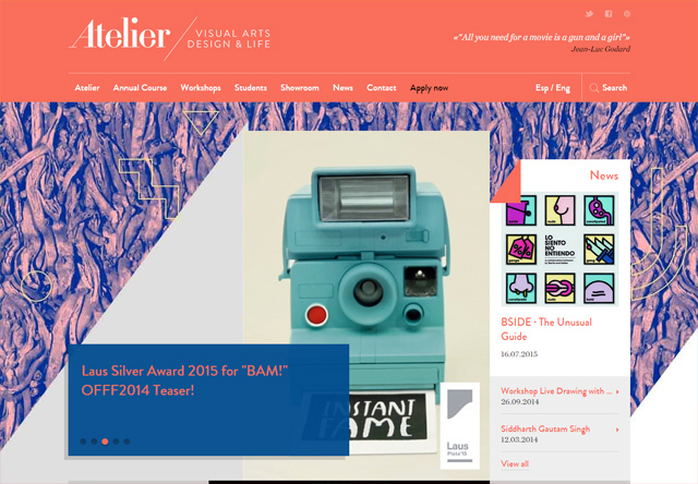 Colorful Website - Atelier