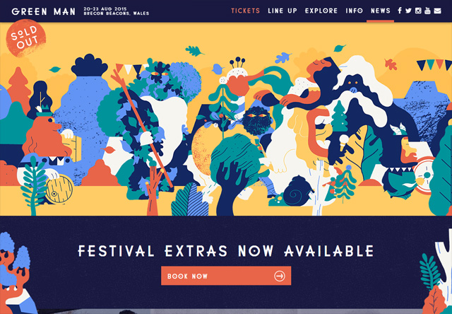 Colorful Website - Green Man Festival
