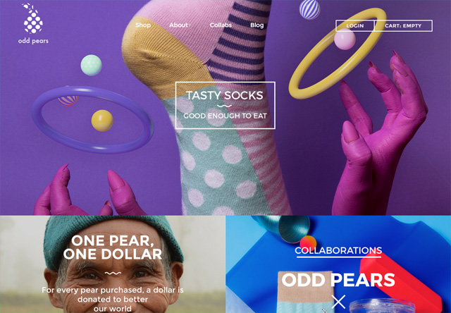 Colorful Website - Odd Pears