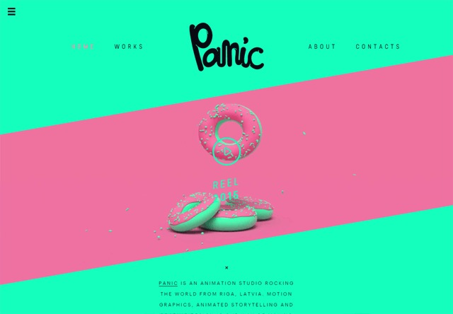Colorful Website - Panic