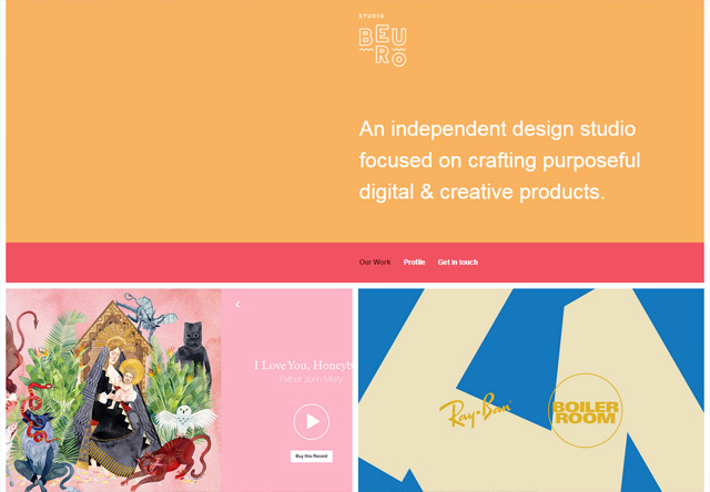 Colorful Website - Studio Beuro