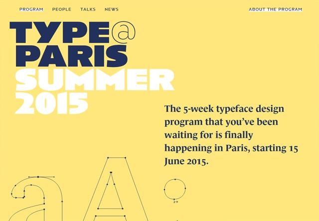 Colorful Website - Type @ Paris