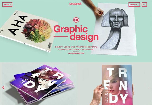 Colorful Website - creanet