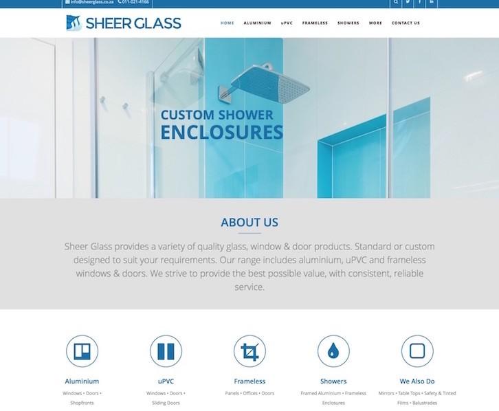Website for Sheer Glass