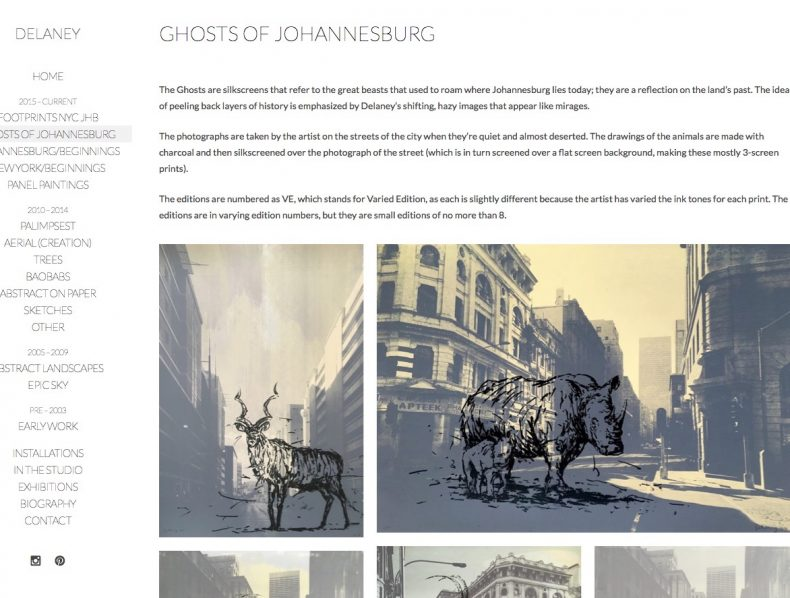 Website for James Delaney Artist