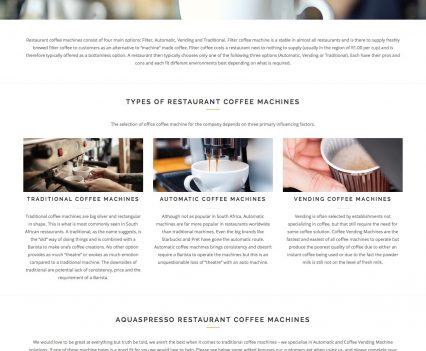 Aquaspresso Coffee Machines