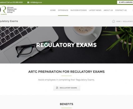 Regulatory Exams - African Resources Training Group