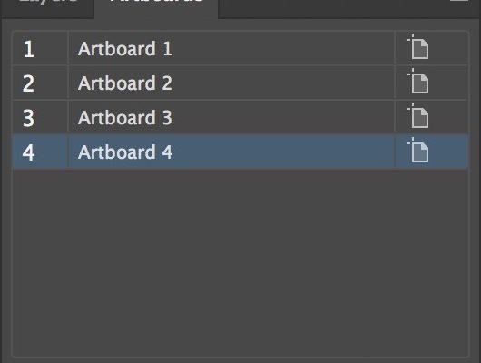 Artboards Arrange Panel