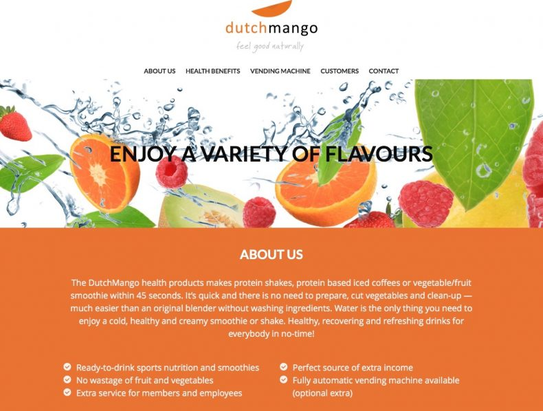 Website for DutchMango South Africa