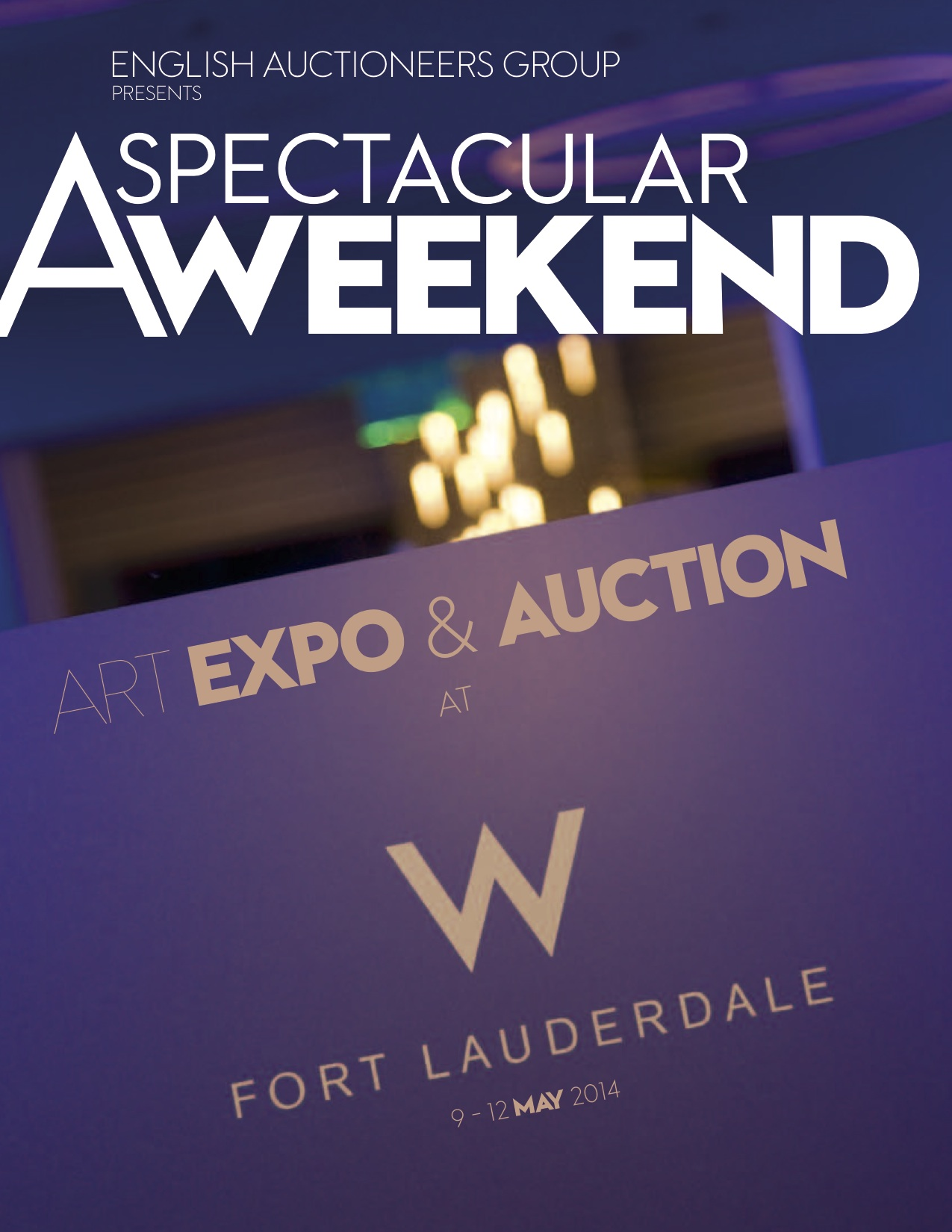 W-Hotel Brochure Invitation for English Auctioneers